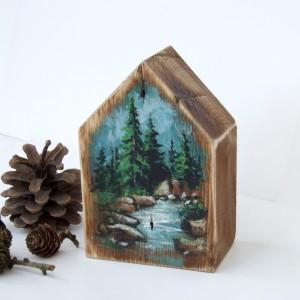 Domek z malowanym pejzażem - Nad potokiem