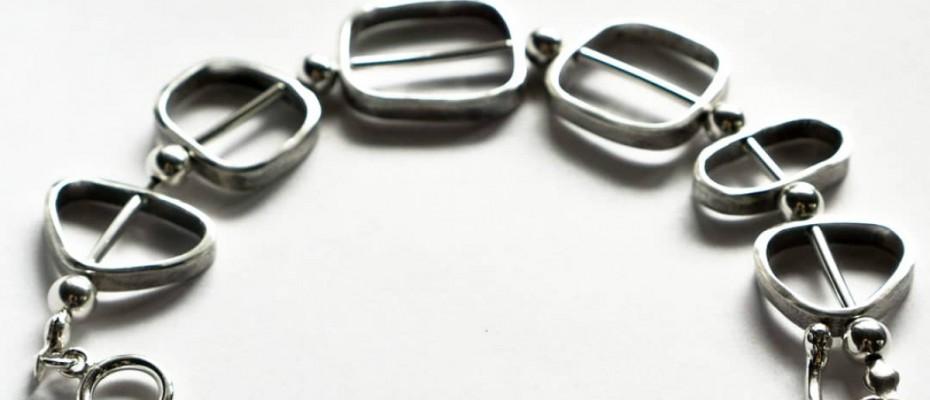 srebrna bransoleta