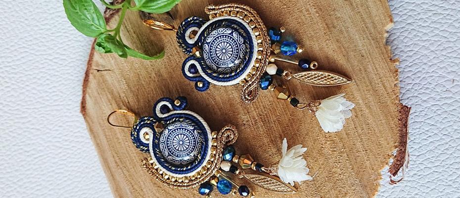 Piękne kolczyki handmade